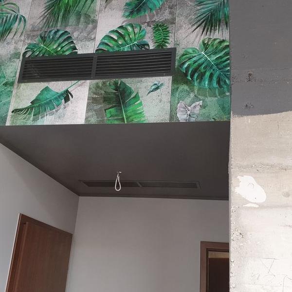wentylacja wewnątrz sufitu